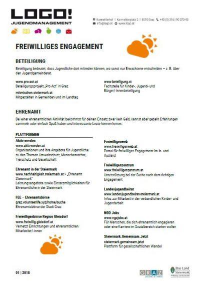 Vorschaubild Infoblatt Freiwilliges Engagement