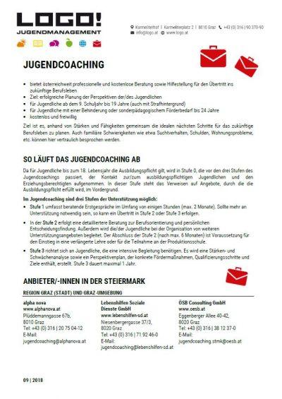 Vorschaubild Infoblatt Jugendcoaching