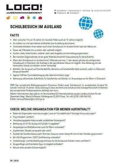 Vorschaubild Schulbesuch im Ausland