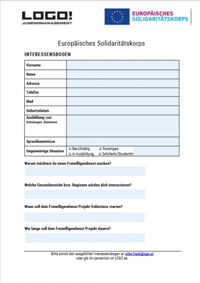 ESK Interessenbogen