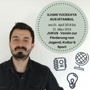 Portrait von Ilhan Yucekaya - ein Europäischer Freiwilliger aus der Türkei