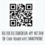 QR Code zur Jobbörsen App