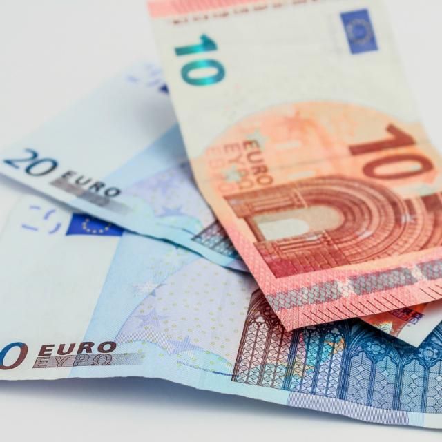 Geld, Euro, Zehneuroschein, Zwanzigeuroschein
