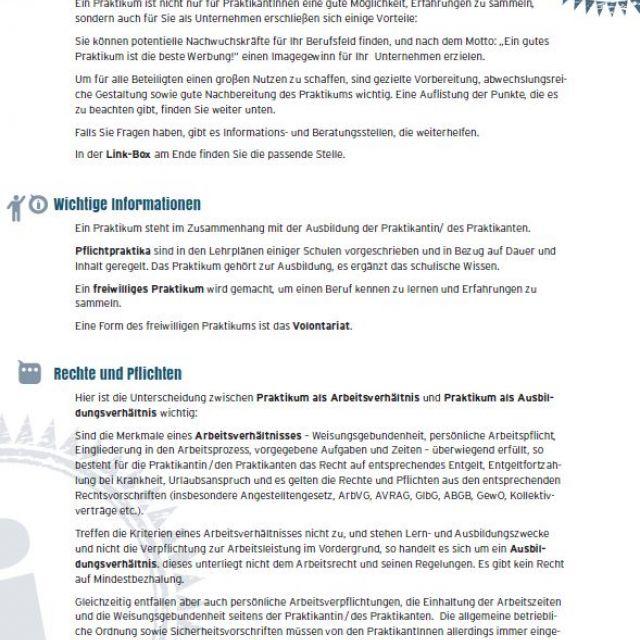 Vorschaubild Checkliste Praktikum für Unternehmen