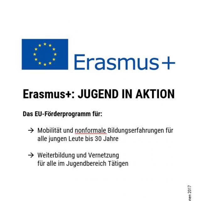 Borschüre Erasmus+: Jugend in Aktion
