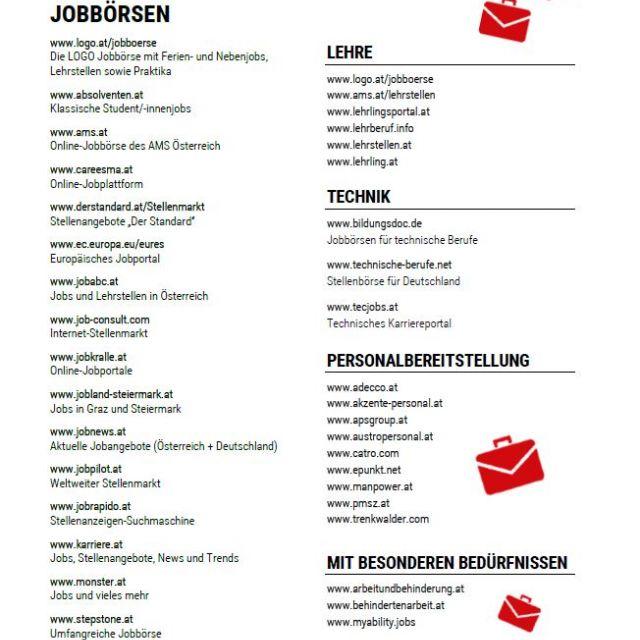 Vorschaubild Infoblatt Jobbörsen