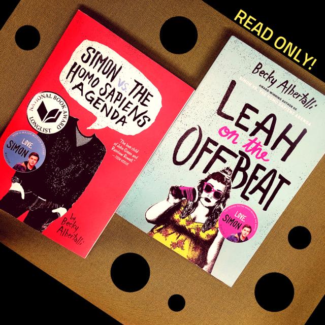 Buchcover der Bücher Simon vs. The Homo Sapiens Agenda und Leah on the Offbeat von Becky Albertalli