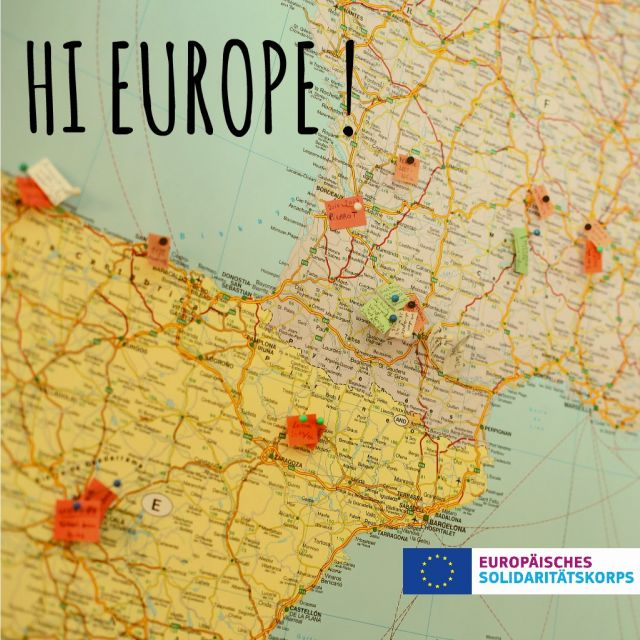 Landkarte, Europa, Europäischer Freiwilligendienst, Hi Europe