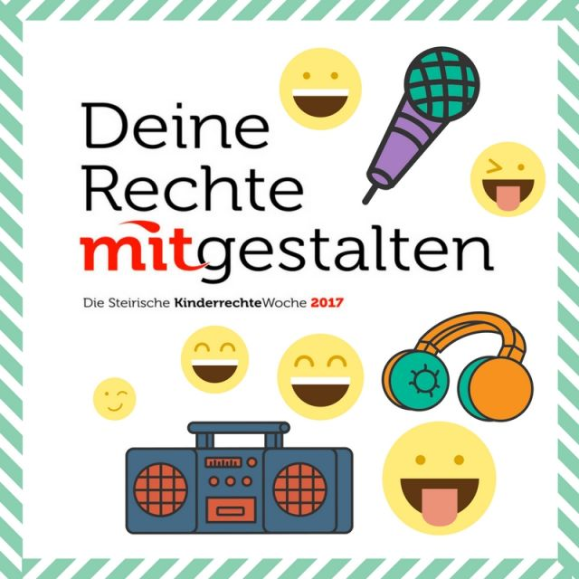 Steirische KinderrechteWoche Logo mit Emojis