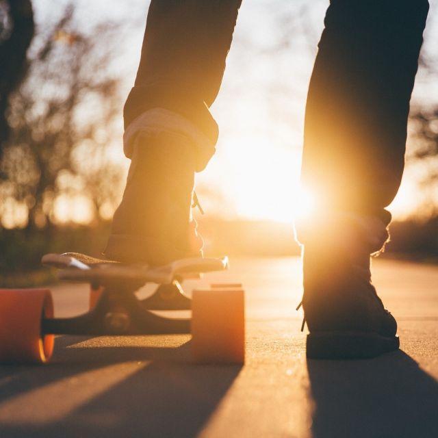 Skateboard Sport Jugend Graz Sonnenuntergang