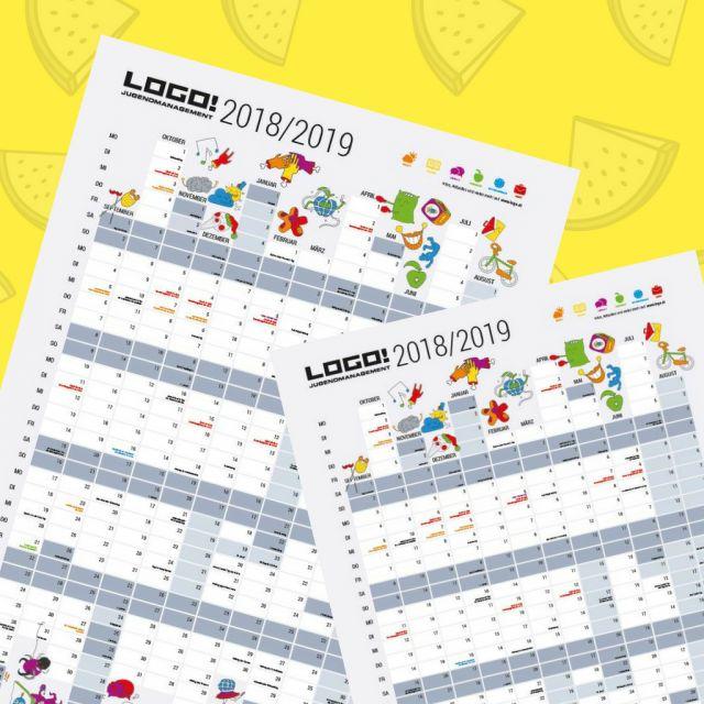 LOGO Wandkalender 2018/19 und Zitronen